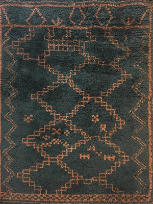 Wool HandKnotted Carpet_Moroccan Classy - HummingHaus