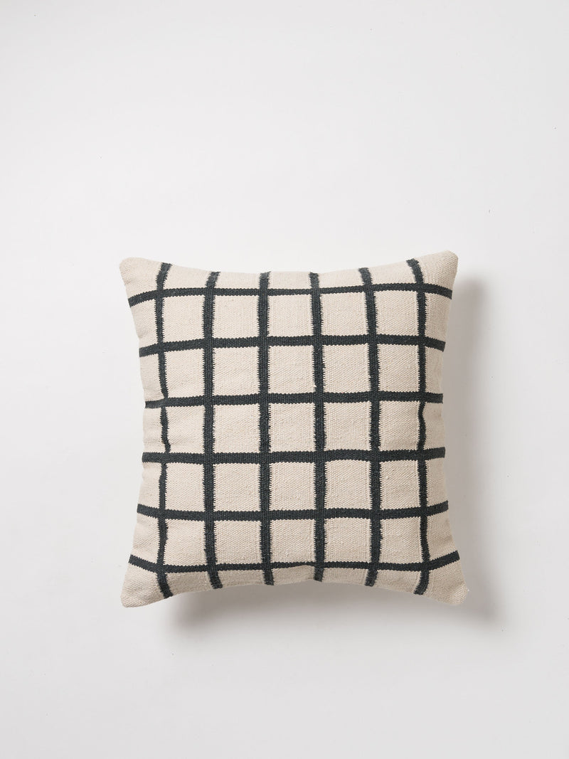 COTTON HANDWOVEN CUSHION COVER-NET - HummingHaus