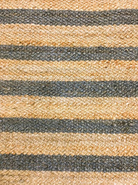 Hemp HandWoven Rug _ Stripe: Grey - HummingHaus