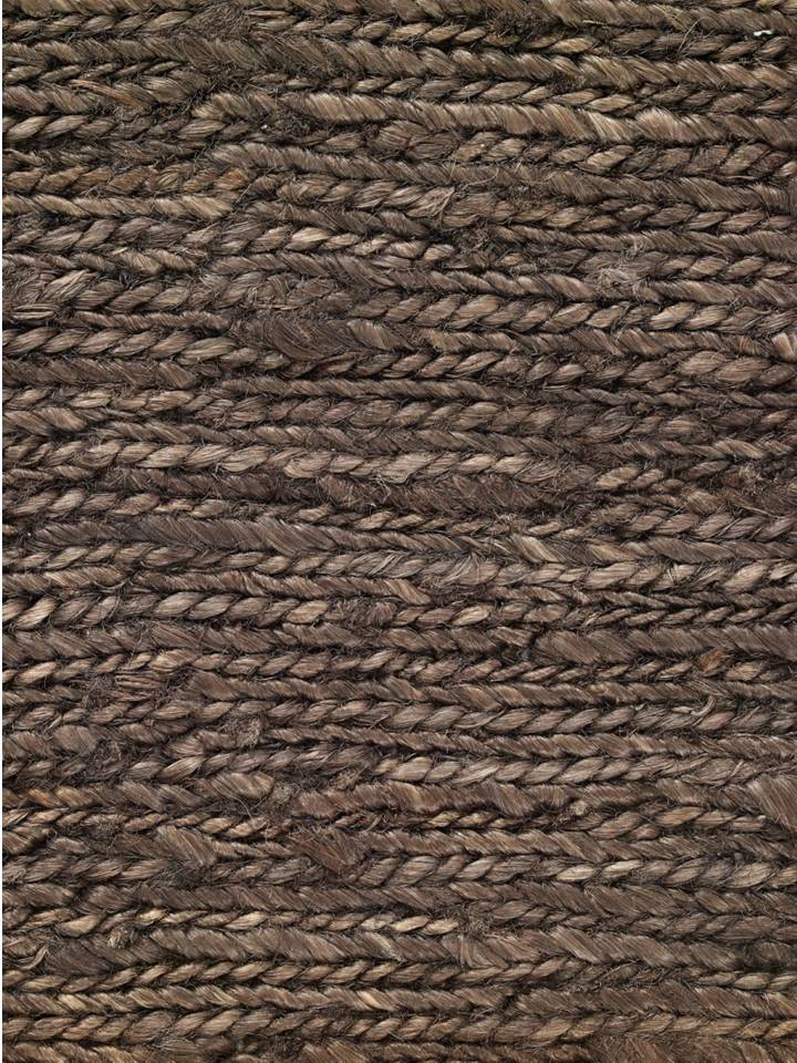 Hemp HandWoven Rug _ Braid Brown - HummingHaus