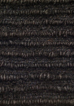 Hemp Handwoven Rug_ Ribbon Black
