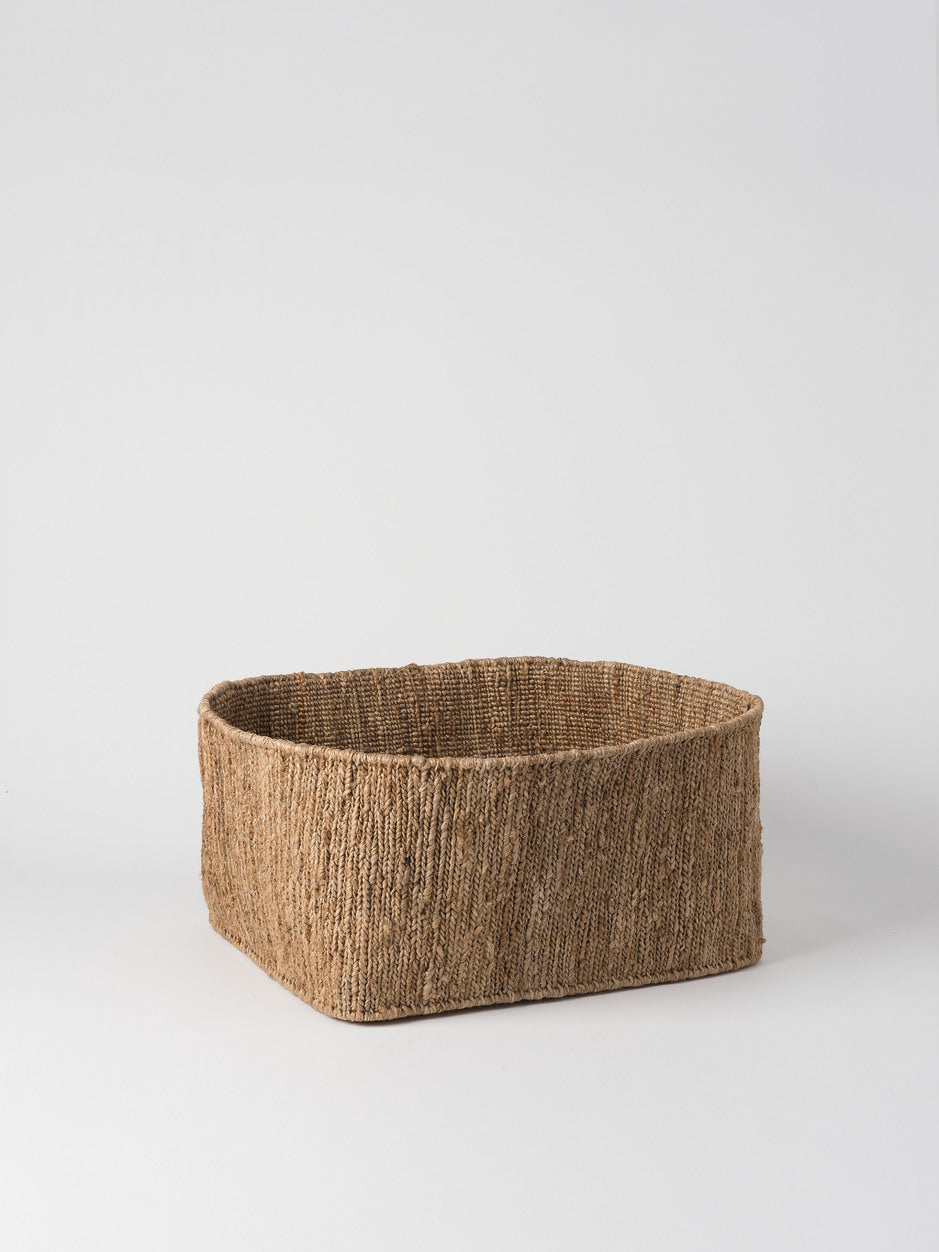 HEMPHANDWOVEN RECTANGULAR -STORAGE BASKETS Hemp HandMade