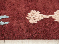Wool Hand Knotted Moroccan Carpet_Juniper Maroon Shape