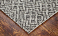 Bamboo & Wool Mix Handwoven Rug_Semi Loop Hexa