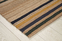 Hemp HandWoven Rug _Multi Stripe