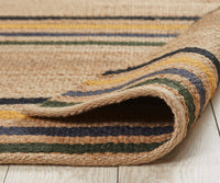 Hemp HandWoven Rug : Multi Stripe