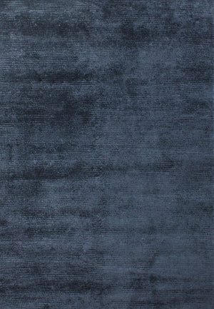 Viscose HandKnotted Carpet_ Parallel Wrap Prince Blue