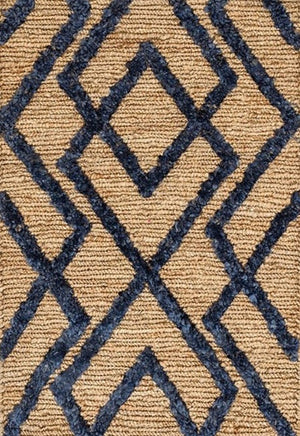 Hemp Handwoven Rug  _ Wales Navy Blue