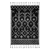 Wool Hand Tufted Carpet _Walter Black / White