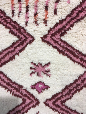 Wool Hand Knotted Moroccan Carpet-Roman