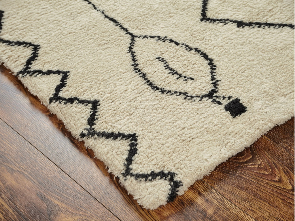 Wool Hand Knotted Moroccan Carpet : Perry
