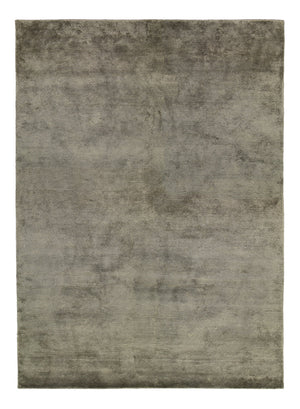 Viscose HandKnotted Carpet_ Parallel Wrap Grey - HummingHaus