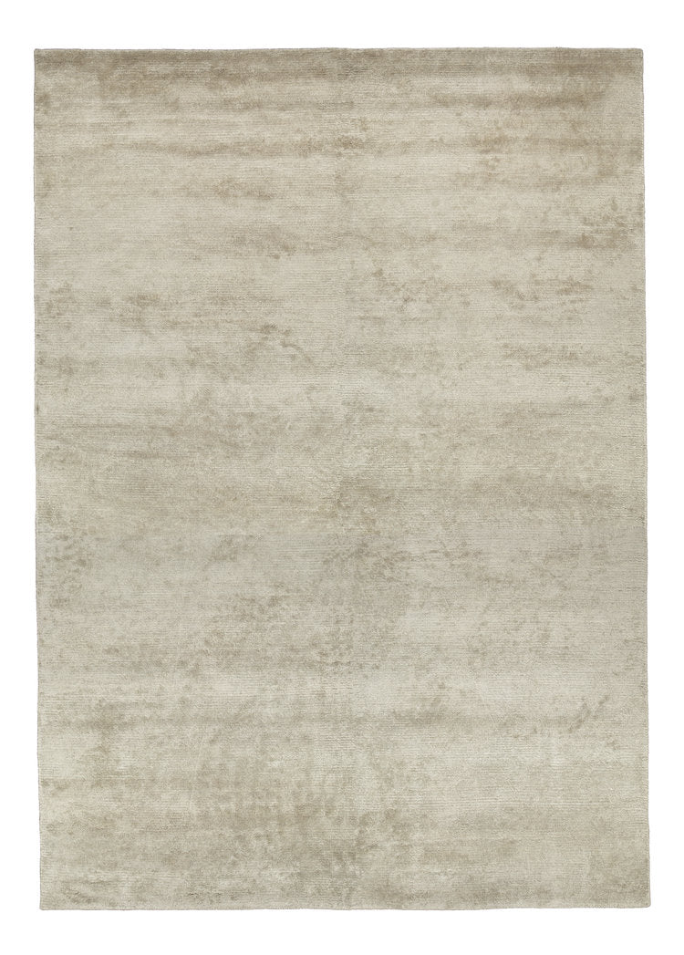 Viscose HandKnotted Carpet_ Parallel Wrap Taupe - HummingHaus