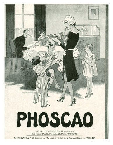 Vintage French Ad Phoscao 1930 Cocoa Chocolate