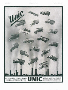 1930 unic / french ad