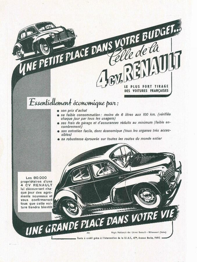1949 Renault / Chypre French Ad