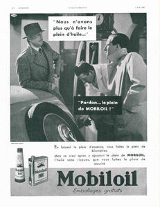French Mobil Oil ad - 1935