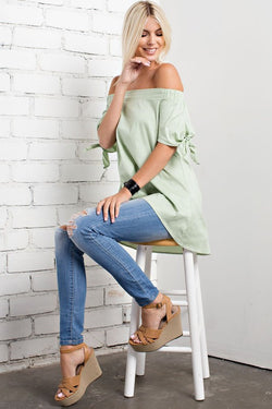 Stylish off shoulder top