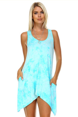 Soft tie dye beach dress