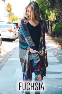Multicolor Pocket, blanket scarf.