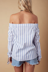Off the shoulder long sleeve top bow-tie sleeve