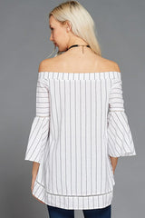 Off the shoulder long sleeve top