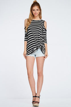Stripe me knot top