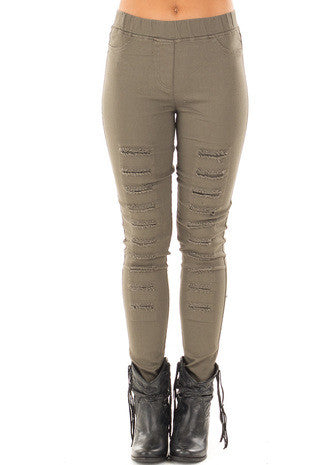 Distressed Jegging..