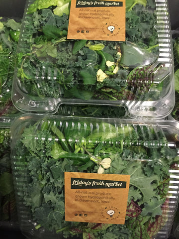 Fresh Mixed Greens-Claim Shell--Not sold online