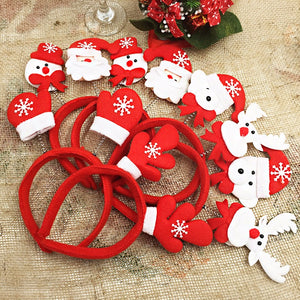 Cute Antlers Christmas Headbands Santa Claus Reindeer Snowman Decorations For Home
