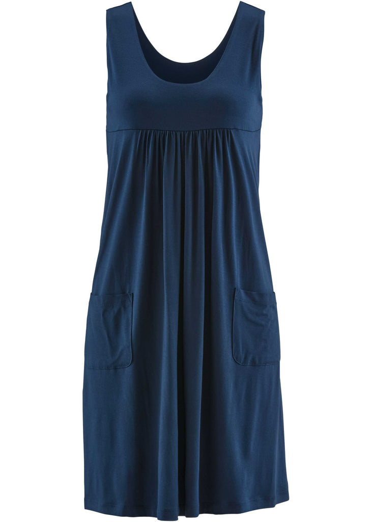Ladies Plus Size Chic Sleeveless Summer Short Loose Dress With Pockets