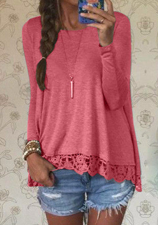 Women's Lace Long Sleeve T-Shirts