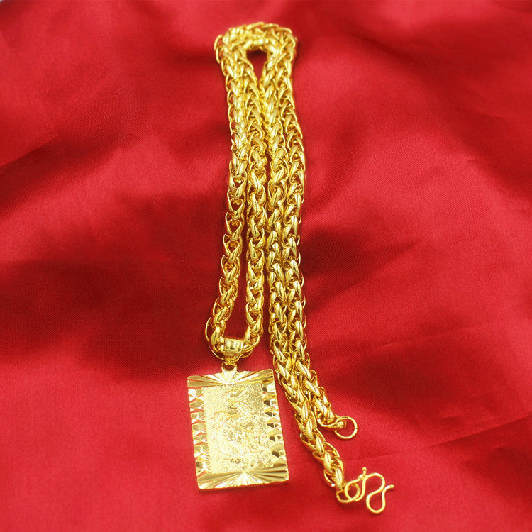 Fashion 24K Gilt Necklace Wealth Fortune Lucky Pendant Type2