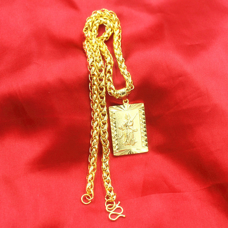 Fashion 24K Gilt Necklace Wealth Fortune Lucky Pendant Type3