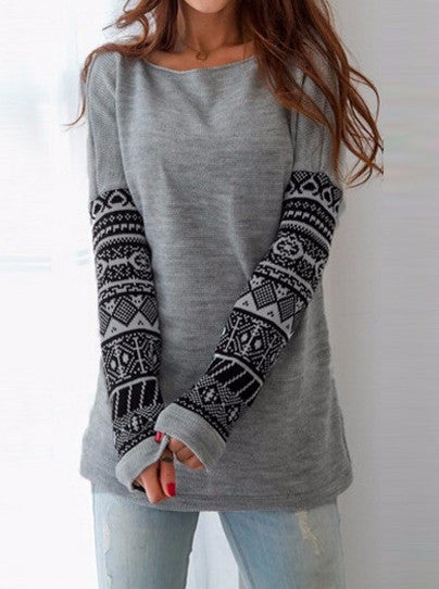 Round neck long sleeve print sexy  hoodies