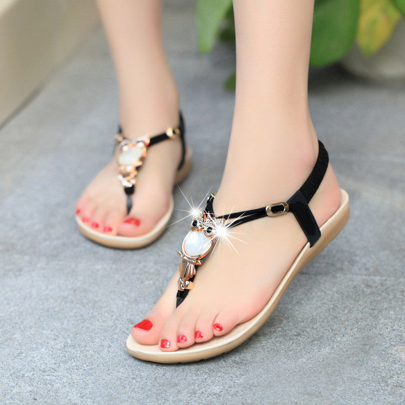 Women Flat Shoes Summer Soft Leather Leisure Ladies Sandals Perfect Present SIZE US4-US11