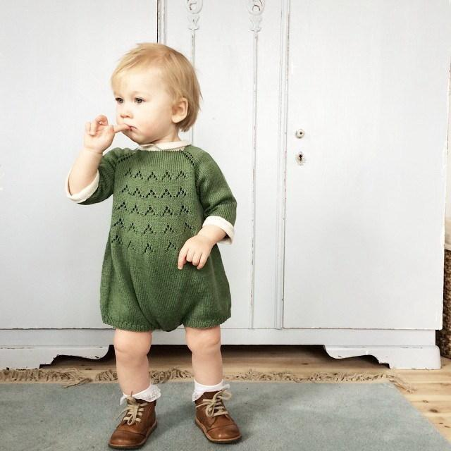 Lovely and sweet pink green khaki knitted jumpsuit for both boys and girls