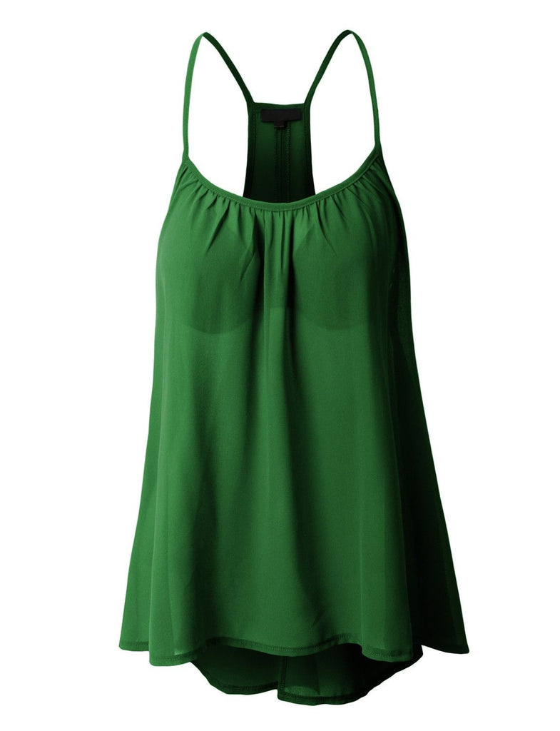 Chiffon O-neck Sleeveless Tank Tops 7 Colors Size S-5XL Choices