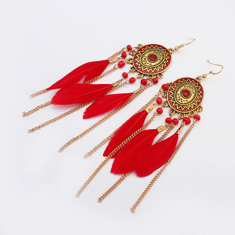 Kissvivi Vintage Jewelry Tassel Earrings CK00738