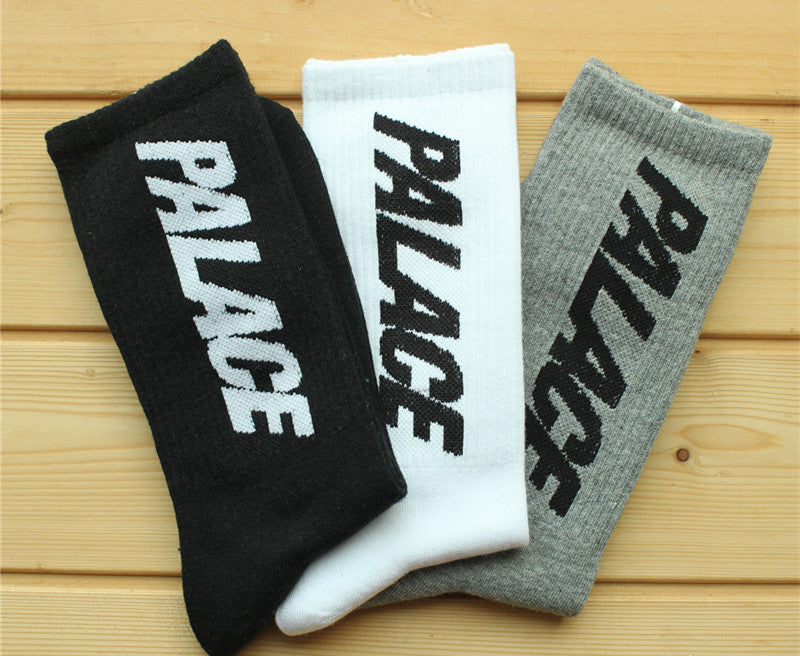 Palace Skateboard Socks Creative Hip Hop Casual Men and Women Alphabet Socks
