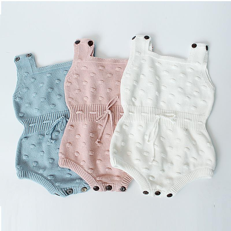 Baby Boys Girls knitted sweater jumpsuit Outfits