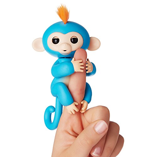 Fingerlings - Interactive Baby Monkey - Zoe (Turquoise with Purple Hair)