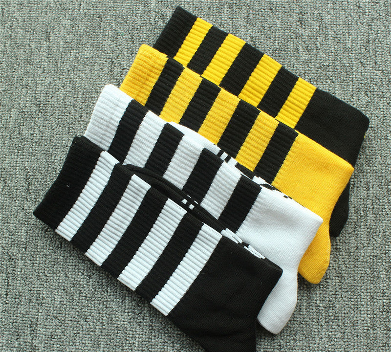 Striped Skateboard Hip Hop Casual Men and Women Alphabet Socks Cotton