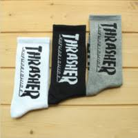 THRASHER Skateboard Hip Hop Casual Men and Women Alphabet Socks Cotton Socks