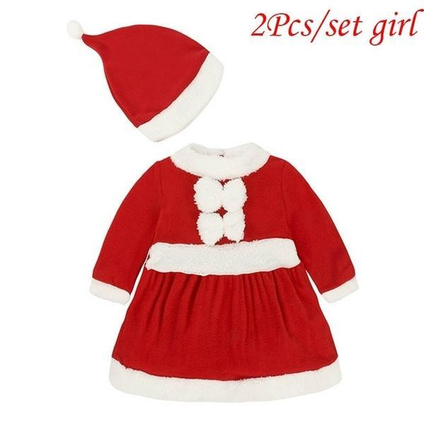 New Baby Romper Newborn Boys Girls Christmas Santa Claus Tops+Pants+Hat+Socks Outfit Set Costume New Year Clothes