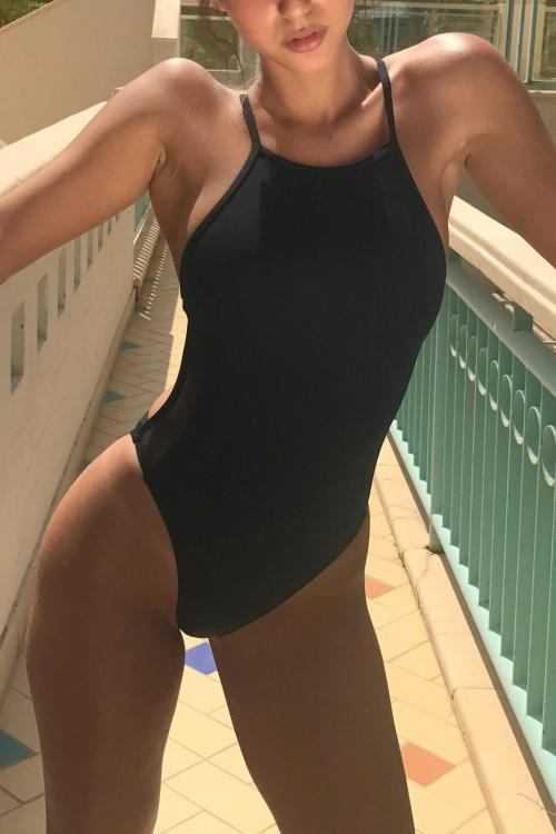 One Piece Black Swimwear