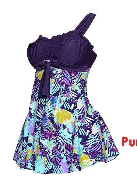 2018 Women Plus Size Print Sling Swimwear One Piece