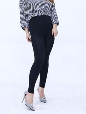 Women Plus Size Soft Ankle-Length Cotton Leggings L-3XL Black