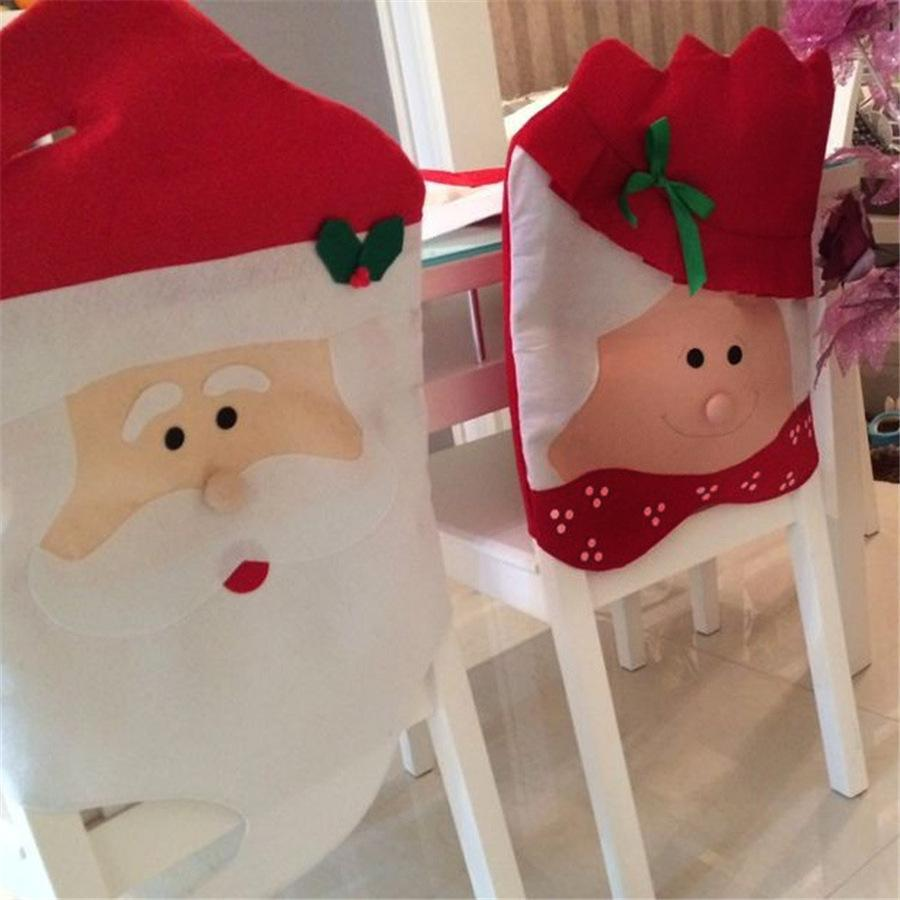 Best Selling Cute Man & Woman Christmas Chair Cover Christmas Supplies Table Decoration Gifts