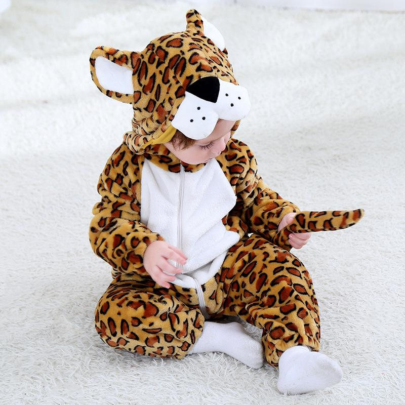 Baby Boys Girls Cute Animal Hoodie Romper Jumpsuit Outfits